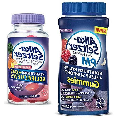 Alka Seltzer PM Heartburn Relief Gummies with Sleep Support,