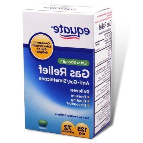 Equate - Gas Relief, Extra Strength, Simethicone 125 mg, 72