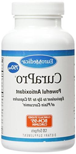 EuroMedica - CuraPro 750 mg 120 softgels