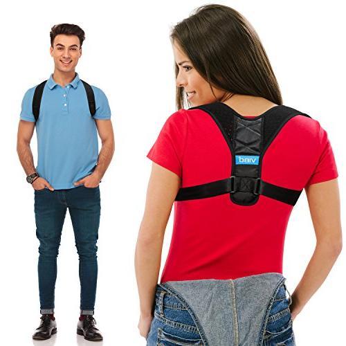 Posture Corrector for Men and Women - Comfortable Upper Back
