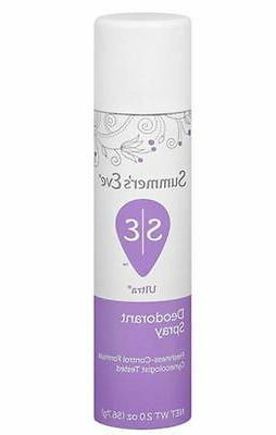 Summer's Eve Ultra Freshening Feminine Deodorant Spray 2-O