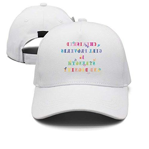 WHROOER Cotton Cap Cherished Girl Proverbs 31 Strength and D