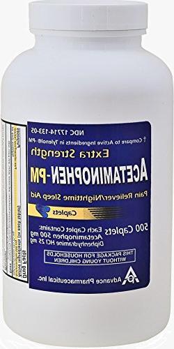 Acetaminophen PM 500 Caplets Generic for Tylenol PM Extra St