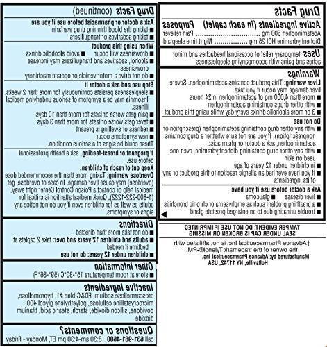 Acetaminophen PM Strength Pain Fever Antihistamine & Generic 300