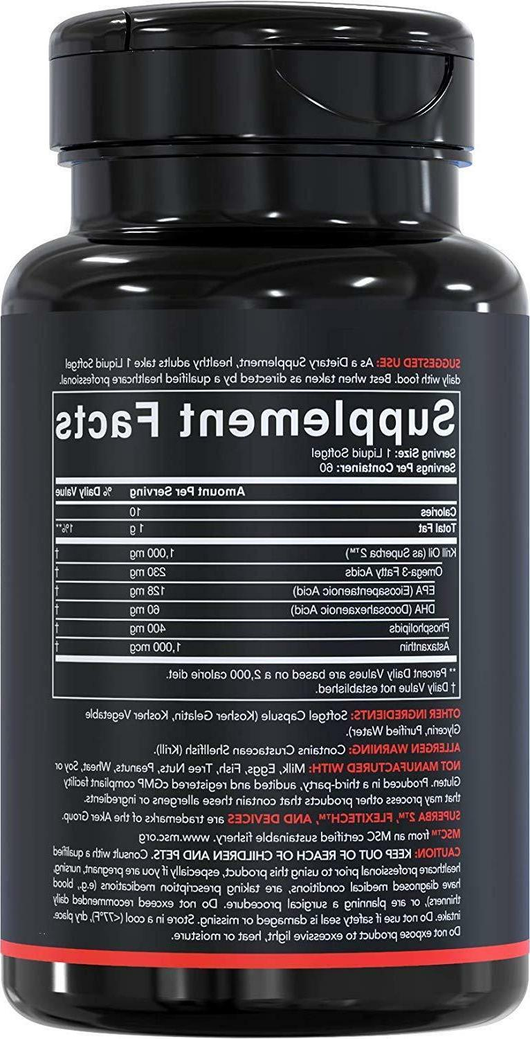 Antarctic Oil Omega-3s and Astaxanthin