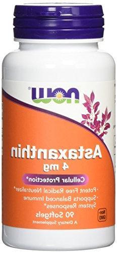 NOW Astaxanthin 4 mg,90 Softgel