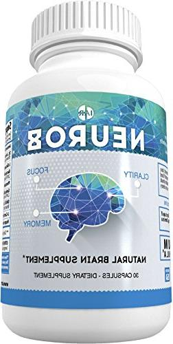 Natural Brain Booster Supplement for Focus, Energy, Mental C