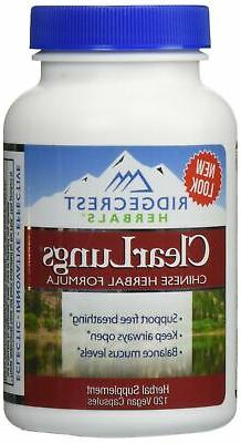Clear Lungs Classic - Red Label - 120 Capsules