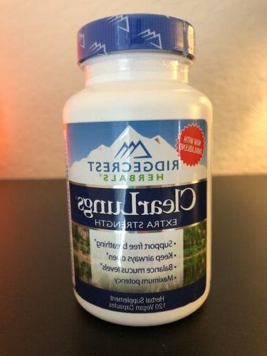 clear lungs extra strength 120 capsules