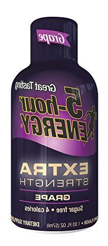 5 Hour Energy Drink Shot, Extra Strength Grape, 6 Count