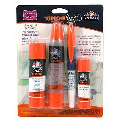 Elmer's E61579 CraftBond Scrapbook Glue Set, Includes Photo