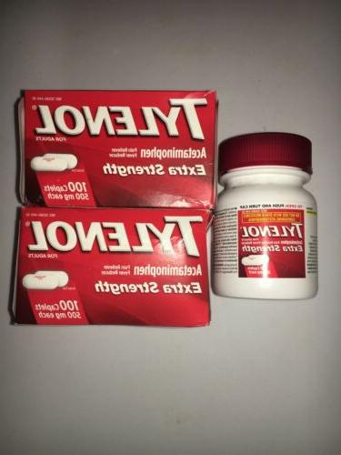 extra strength 500mg 100 caplets 3pack exp