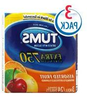 Tums Extra Strength 750 Antacid with Calcium 3-Roll Pack Ass
