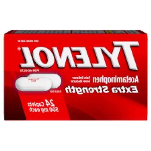 extra strength acetaminophen 500 mg 24 ct