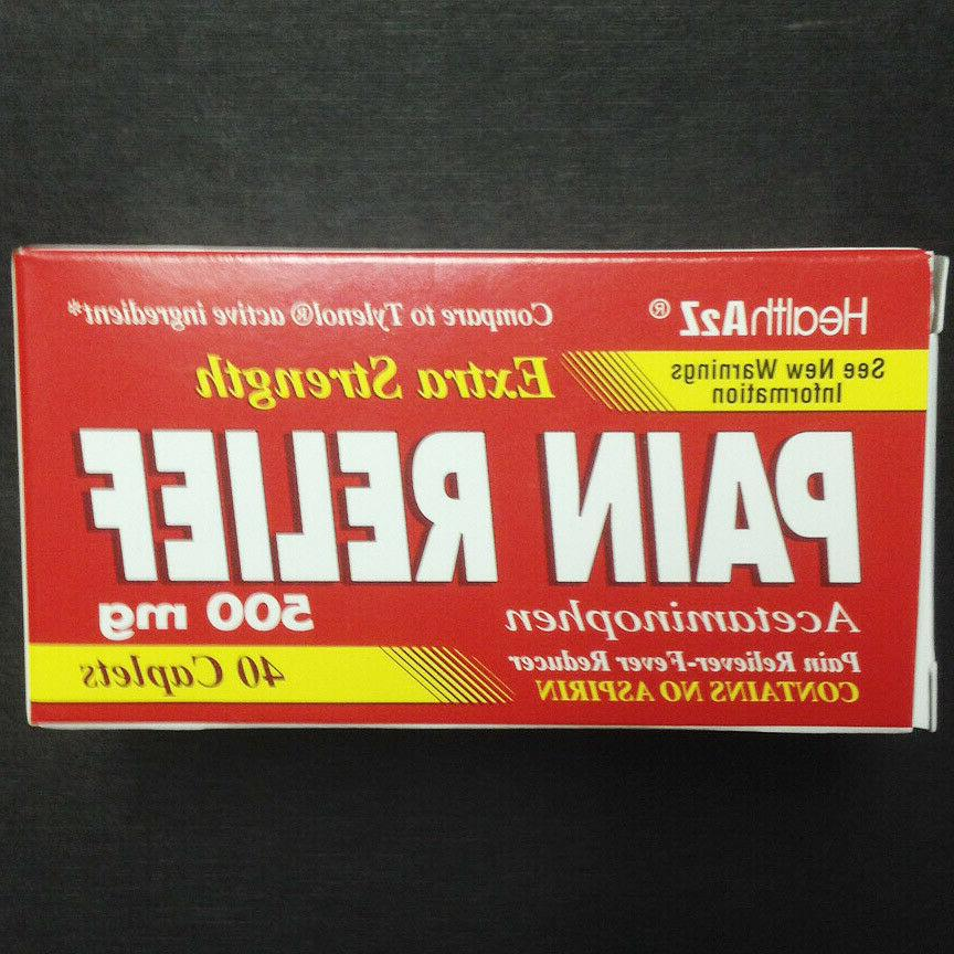 Tylenol Extra Strength Acetaminophen Pain Reliever Fever Red