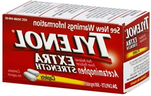extra strength acetaminophen caplets 24