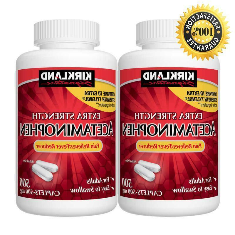 Kirkland Extra Strength Acetaminophen 500 mg Fever & Pain Re