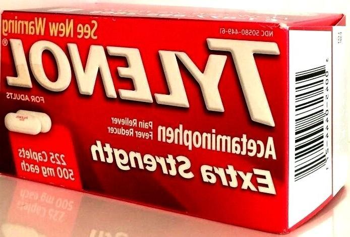TYLENOL EXTRA STRENGTH TABLETS 500 ACETAMINOPHEN PAIN