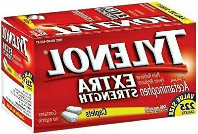 extra strength caplets 225 count pack of