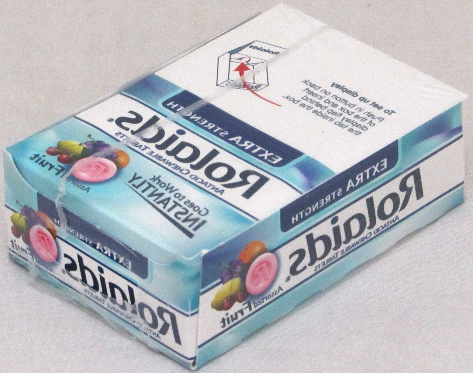 extra strength chewable antacid assorted fruit 12