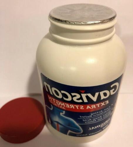 Gaviscon Extra Chewable Antacid Original 100 Ct Exp: