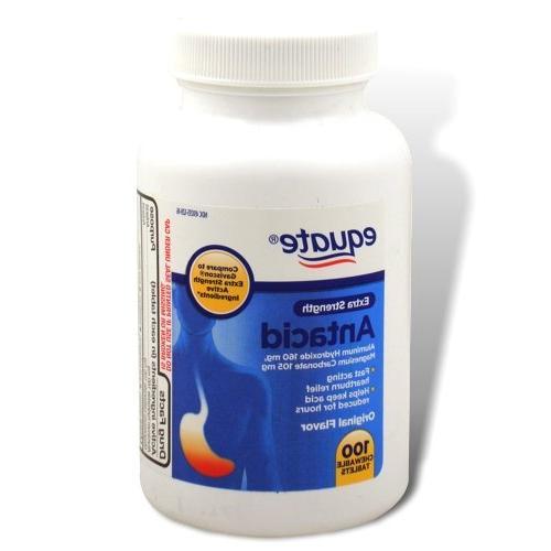 Equate Extra Strength Chewable Antacid Original 100 Tablets, Compare to Gaviscon