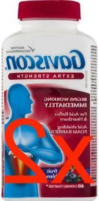 Gaviscon Extra Strength Chewable Foamtabs Fruit Blend, Acid