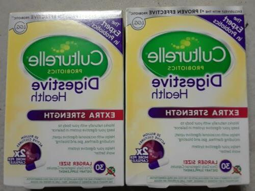 extra strength digestive health daily probiotic 30x2