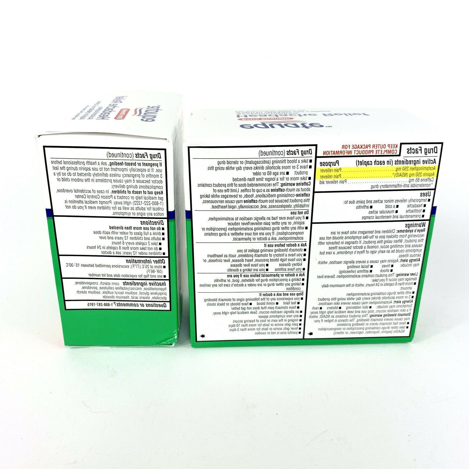Equate Extra-Strength FAST Relief Caplets TWIN PACKS 400