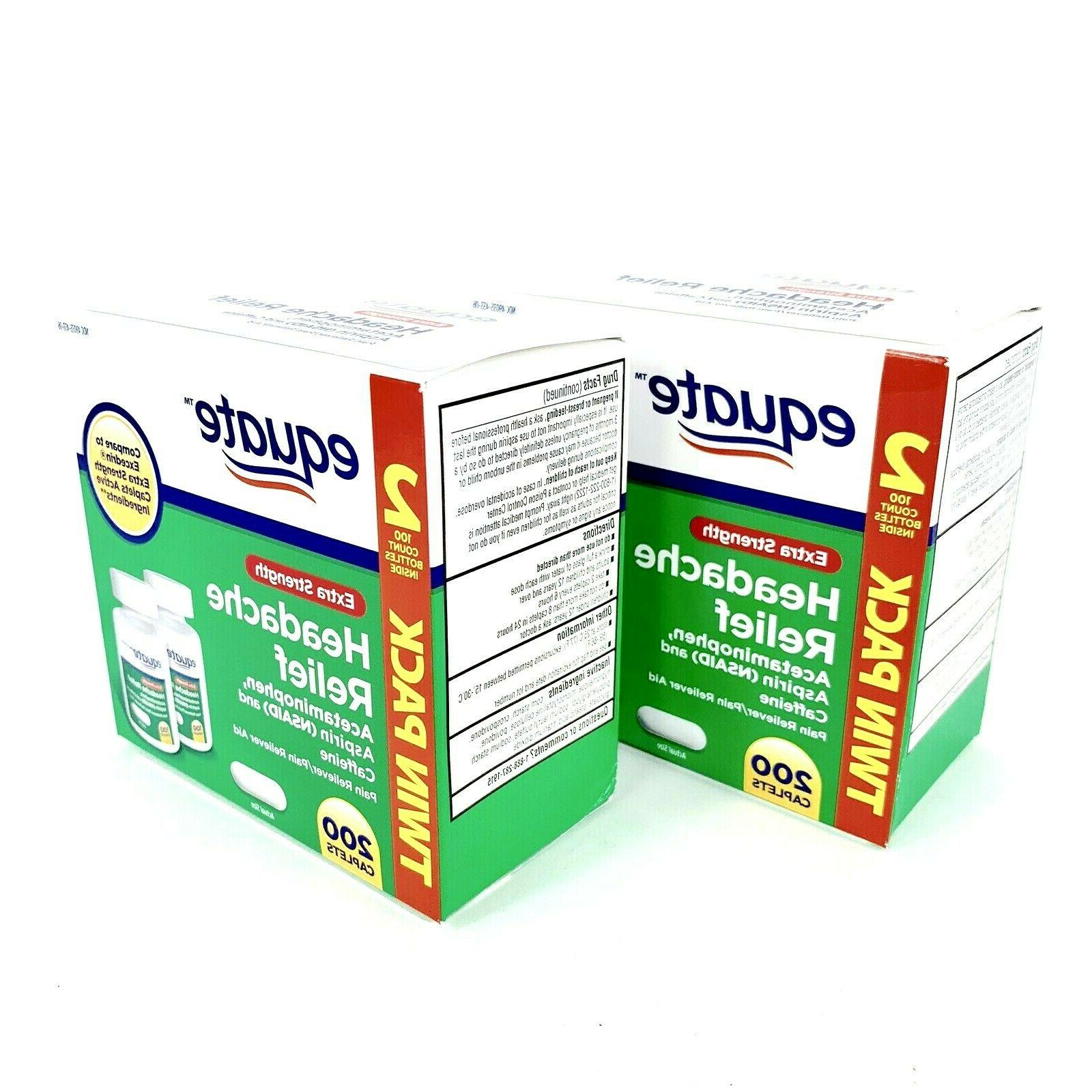 Equate Relief Caplets 2 TWIN 400 Count