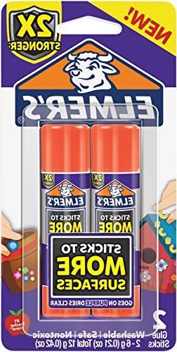 Elmer's Extra Strength Glue Sticks 2/Pkg-.21Oz Each