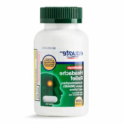 extra strength headache relief 200ct acetaminophen aspirin