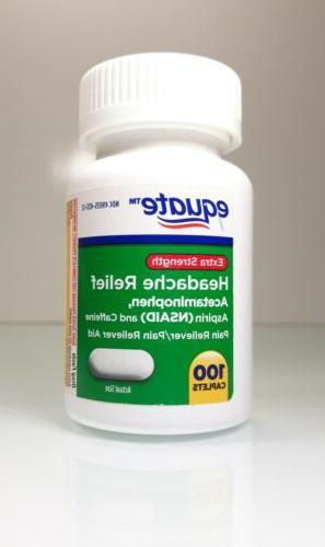 extra strength headache relief acetaminophen 100 caplets