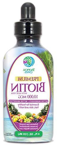 Extra Strength Liquid Biotin Drops w/10,000 Mcg – Best Vit
