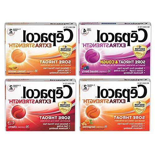 extra strength lozenges mixed flavor
