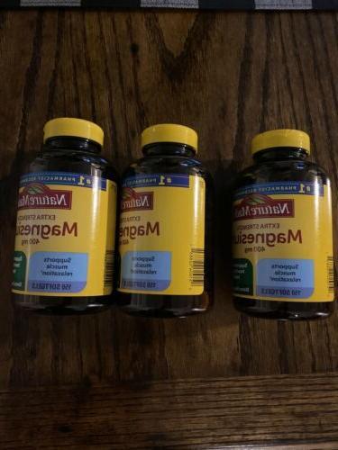 extra strength magnesium 400 mg 150 softgels