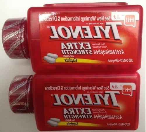 Reliever Acetaminophen 500 Mg Caplets