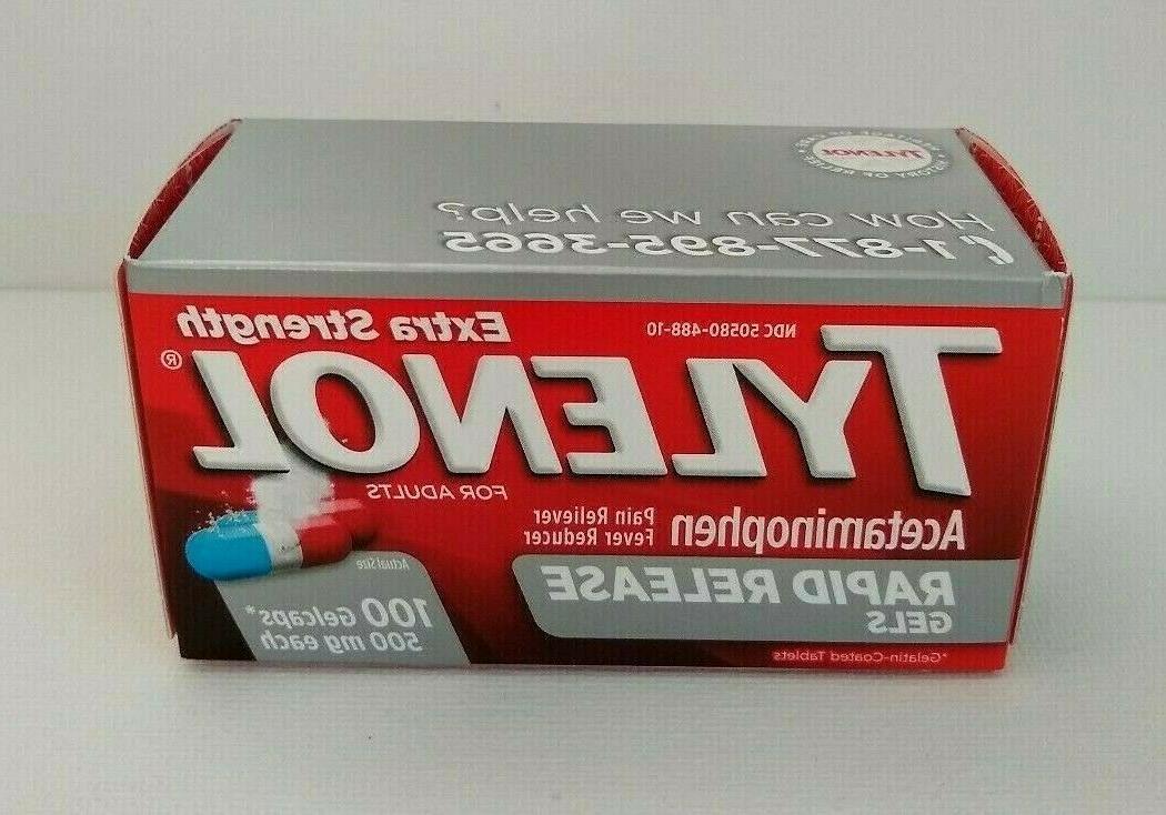 extra strength rapid release acetaminophen
