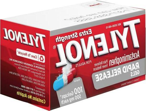 Tylenol Extra Release Acetaminophen