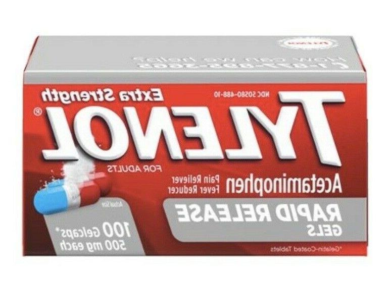 extra strength rapid release gels capsules 100