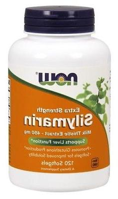 Extra Strength Silymarin Milk Thistle Extract 450 mg Now Foo