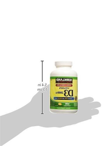 Kirkland Vitamin D3 2000 I.U. 600 Softgels,