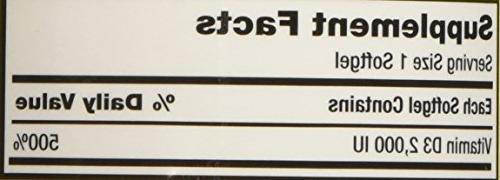 Kirkland Signature Extra Vitamin 2000 600 Softgels,
