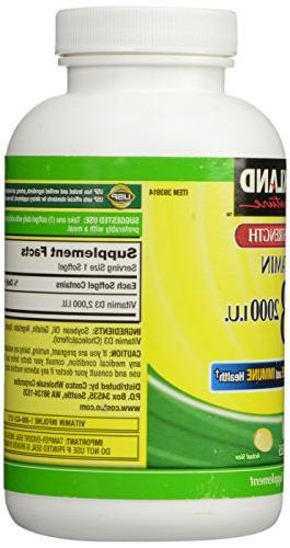 Kirkland Strength Vitamin 2000 600 Softgels,