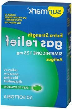 Sunmark Gas Relief Softgels Extra Strength - 50 Capsules, Pa
