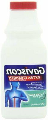 Gaviscon Extra Strength Liquid Antacid, Cool Mint Flavor Per