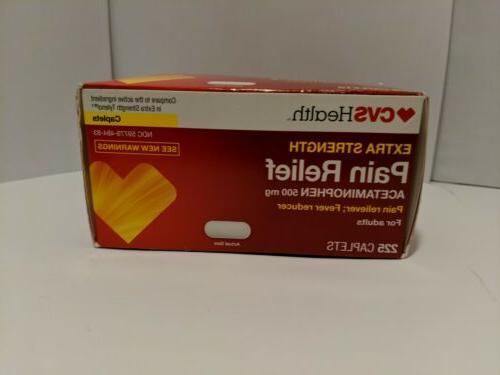 health extra strength pain relief acetaminophen 500
