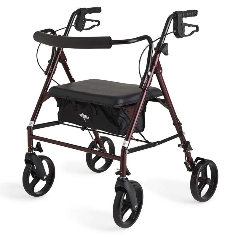 heavy duty bariatric mobility rollator with 8
