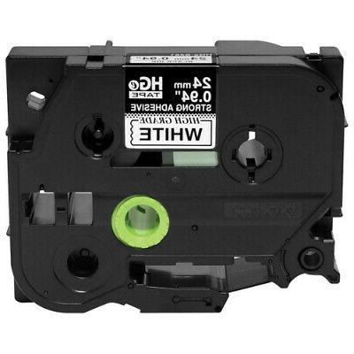 New - Brother HGES2515PK Black on White Extra-Strength Adhes