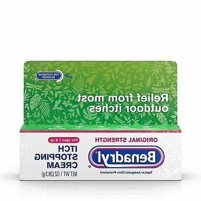 Benadryl Itch Relief Cream, Extra Strength, 1oz Per Tube